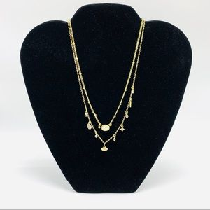 Jules Smith Gold Double StrandCharm Necklace